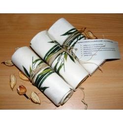 3 vnt Bambuko ir kukurūzų pluošto servetėlės