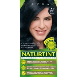 """""""Naturally Better"""" ilgalaikiai plaukų dažai be amoniako, BLUE-BLACK 2.1 (165 ml)"""