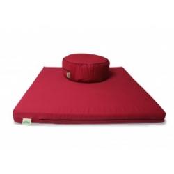 Grikių lukštų pufas ir čiužinukas meditacijai