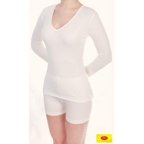 Moteriški marškinėliai ilgomis rankovėmis iš 100% bambuko pluošto PT 0803