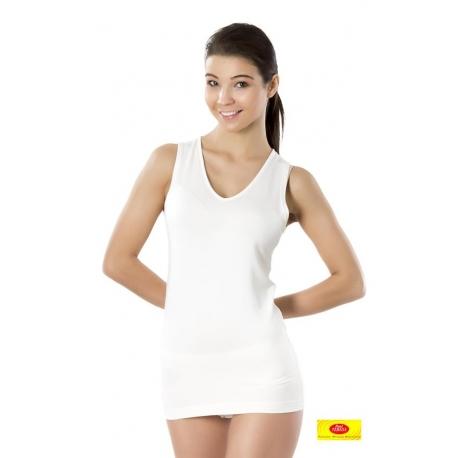 Berankoviai moteriški marškinėliai iš 100 % bambuko pluošto PT 0804